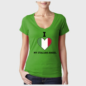 Ladies Vneck - I Love